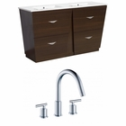 48-in. W Floor Mount Wenge Vanity Set For 3H8-in. Drilling
