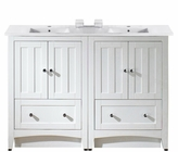 48-in. W Floor Mount White Vanity Set For 1 Hole Drilling