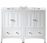 American Imaginations 48-in. W Floor Mount White Vanity Set For 3H4-in. Drilling