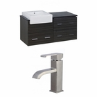 48-in. W Wall Mount Dawn Grey Vanity Set For 1 Hole Drilling