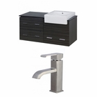 American Imaginations 48-in. W Wall Mount Dawn Grey Vanity Set For 1 Hole Drilling