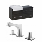 American Imaginations 48-in. W Wall Mount Dawn Grey Vanity Set For 3H8-in. Drilling