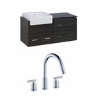 48-in. W Wall Mount Dawn Grey Vanity Set For 3H8-in. Drilling