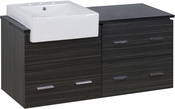 48-in. W Wall Mount Dawn Grey Vanity Set For 3H8-in. Drilling Black Galaxy Top