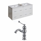 48-in. W Wall Mount White Vanity Set For 1 Hole Drilling