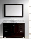 48in Espresso Single Bathroom Set Caroline Avenue GS-50048-WMSQ-ES
