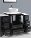 48in Single Vanity w/ Round Sink by Bosconi BOAB124RO2S