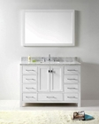 48in White Single Bathroom Set Caroline Avenue VU-GS-50048-WMSQ-WH