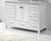 48in White Vanity Caroline Avenue by Virtu USA  VU-GS-50048-CAB-WH