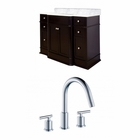 American Imaginations 49.25-in. W Floor Mount Dark Mahogany Vanity Set For 3H8-in. Drilling