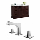 American Imaginations 49.5-in. W Floor Mount Coffee Vanity Set For 3H8-in. Drilling