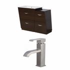 American Imaginations 49.5-in. W Floor Mount Wenge Vanity Set For 1 Hole Drilling