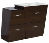 American Imaginations 49.5-in. W Floor Mount Wenge Vanity Set For 3H4-in. Drilling