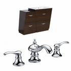 American Imaginations 49.5-in. W Floor Mount Wenge Vanity Set For 3H8-in. Drilling