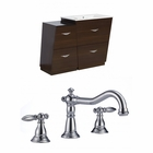 49.5-in. W Floor Mount Wenge Vanity Set For 3H8-in. Drilling