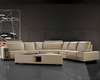 4pc Beige Leather Sectional Sofa Set 44L0646HL