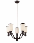 ELK 5 Light Chandelier in Oiled Bronze EK-66673-5
