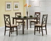 5 PC Dinette Set in Dark Walnut CO-150211