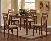 5 PC Dinette Set in Walnut CO-150430