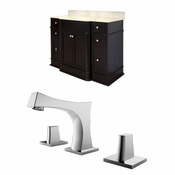 50-in. W Floor Mount Dark Mahogany Vanity Set For 3H8-in. Drilling