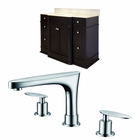 American Imaginations 50-in. W Floor Mount Dark Mahogany Vanity Set For 3H8-in. Drilling