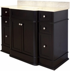 American Imaginations 50-in. W Floor Mount Dark Mahogany Vanity Set For 3H8-in. Drilling Beige Top White UM Sink