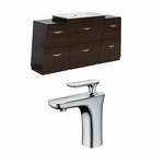 American Imaginations 53-in. W Floor Mount Wenge Vanity Set For 1 Hole Drilling