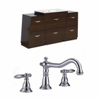 53-in. W Floor Mount Wenge Vanity Set For 3H8-in. Drilling