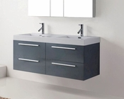 54in Double Grey Bathroom Set by Virtu USA VU-JD-50754-GR