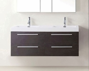 54in Double Wenge Bathroom Set by Virtu USA VU-JD-50754-WG