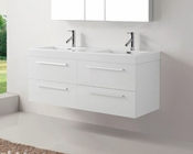 54in Double White Bathroom Set by Virtu USA VU-JD-50754-GW