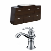 56-in. W Floor Mount Wenge Vanity Set For 1 Hole Drilling