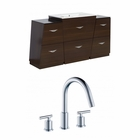 56-in. W Floor Mount Wenge Vanity Set For 3H8-in. Drilling