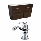 American Imaginations 59-in. W Floor Mount Wenge Vanity Set For 1 Hole Drilling