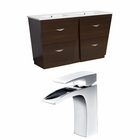 59-in. W Floor Mount Wenge Vanity Set For 1 Hole Drilling