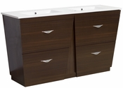 American Imaginations 59-in. W Floor Mount Wenge Vanity Set For 3H4-in. Drilling