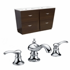 American Imaginations 59-in. W Floor Mount Wenge Vanity Set For 3H8-in. Drilling