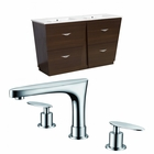 59-in. W Floor Mount Wenge Vanity Set For 3H8-in. Drilling