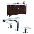 American Imaginations 60-in. W Floor Mount Coffee Vanity Set For 3H8-in. Drilling