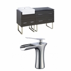60-in. W Floor Mount Dawn Grey Vanity Set For 1 Hole Drilling