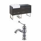 American Imaginations 60-in. W Floor Mount Dawn Grey Vanity Set For 1 Hole Drilling