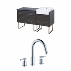 60-in. W Floor Mount Dawn Grey Vanity Set For 3H8-in. Drilling