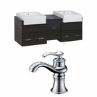 American Imaginations 60-in. W Wall Mount Dawn Grey Vanity Set For 1 Hole Drilling