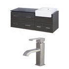 60-in. W Wall Mount Dawn Grey Vanity Set For 1 Hole Drilling