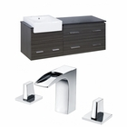 60-in. W Wall Mount Dawn Grey Vanity Set For 3H8-in. Drilling