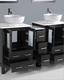 60in Double Round Sink Vanity by Bosconi BOAB224RO1S