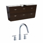 61.5-in. W Floor Mount Wenge Vanity Set For 3H8-in. Drilling