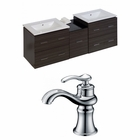 61.5-in. W Wall Mount Dawn Grey Vanity Set For 1 Hole Drilling