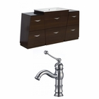61.75-in. W Floor Mount Wenge Vanity Set For 1 Hole Drilling