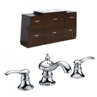 61.75-in. W Floor Mount Wenge Vanity Set For 3H8-in. Drilling